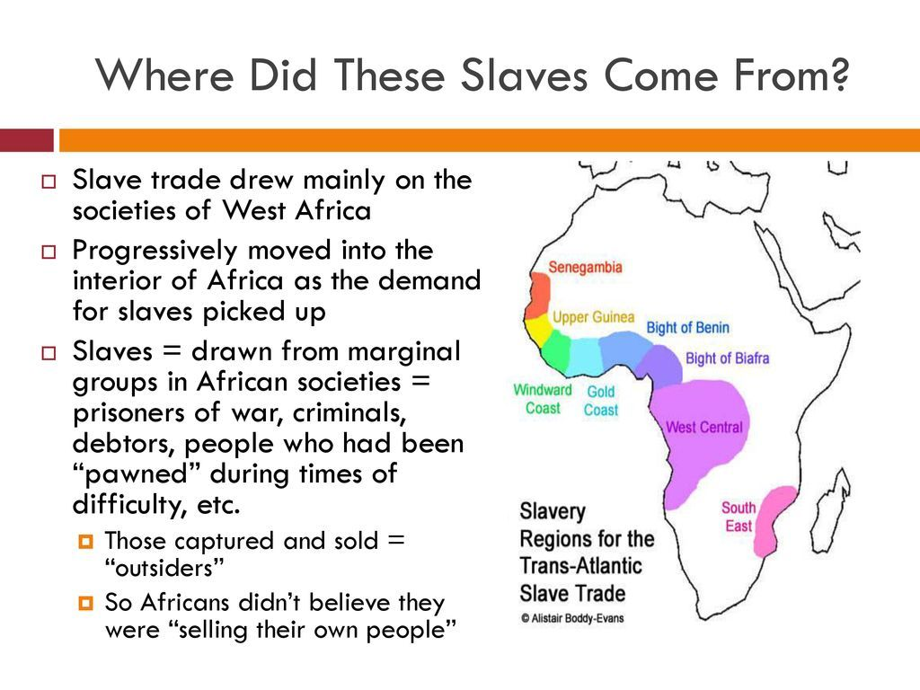 What Parts Of Africa Did Slaves Come From