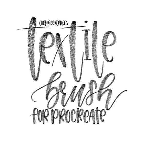Textile Brush for Procreate iPad Lettering The Pigeon