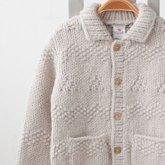 BONPOINT 2013AW baby knit jacket (006 NATURAL) 18M-24M