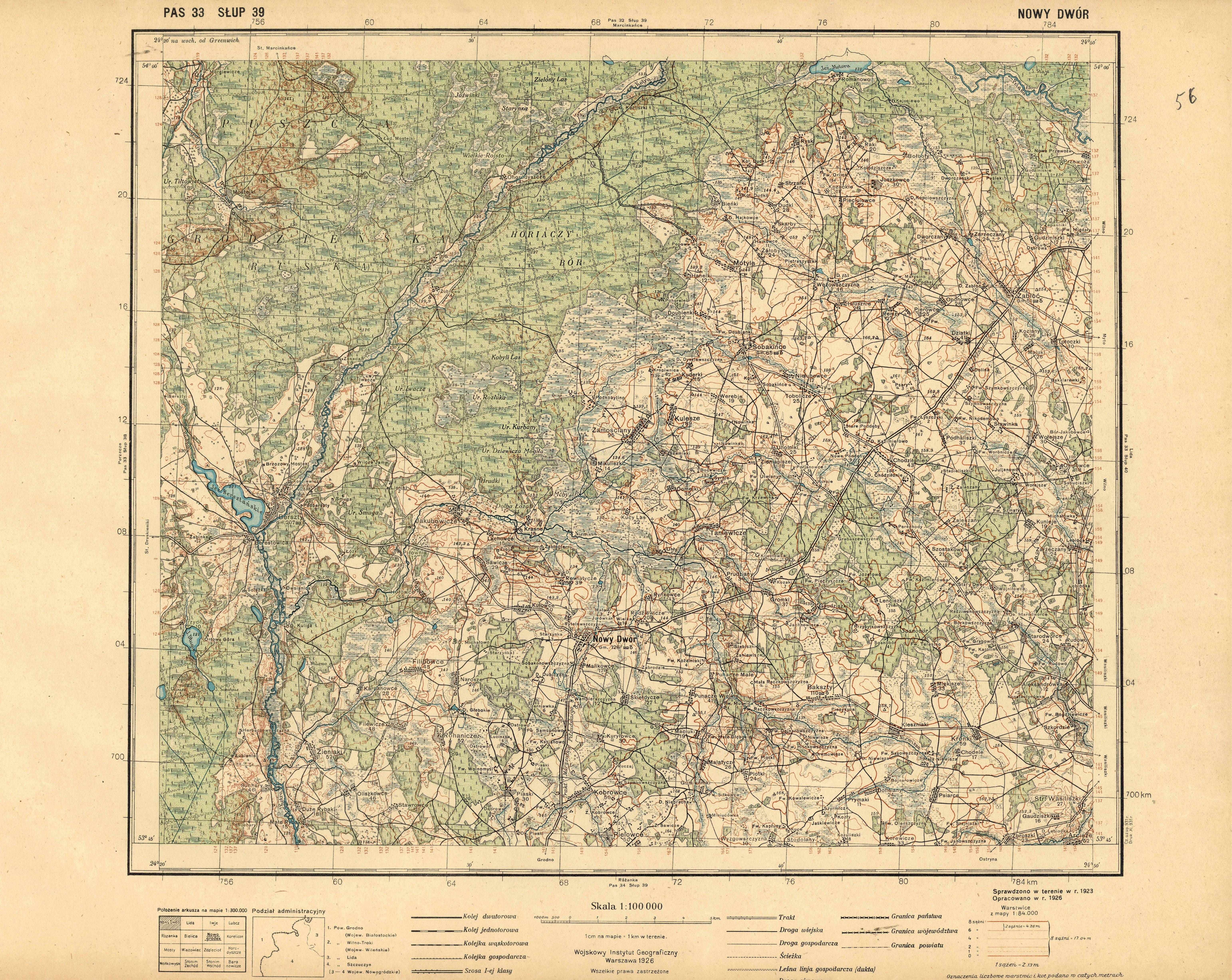 Southern Poland Map.Old Map Of Kotra National Park Surroundings In Poland Nowy Dwor