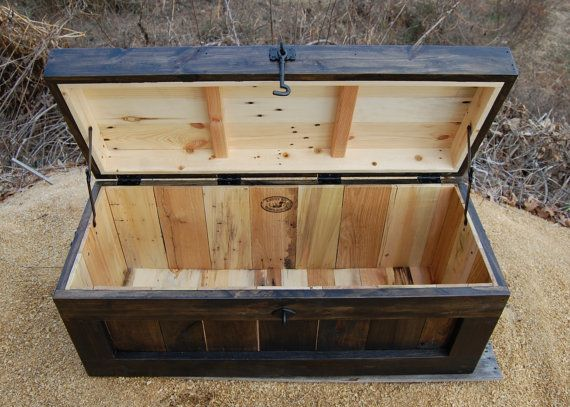 Large Hope Chest/Coffee Table/ Entry/ Trunk/ Wooden Chest/ Ebony ...