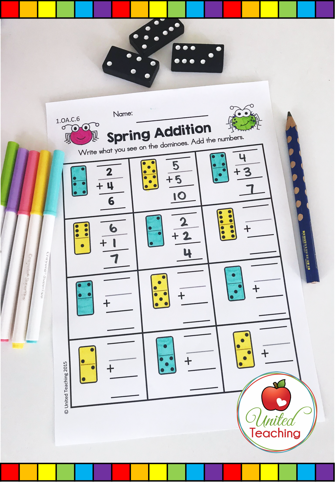 Spring Math Amp Literacy Worksheets 1st Grade Bundle