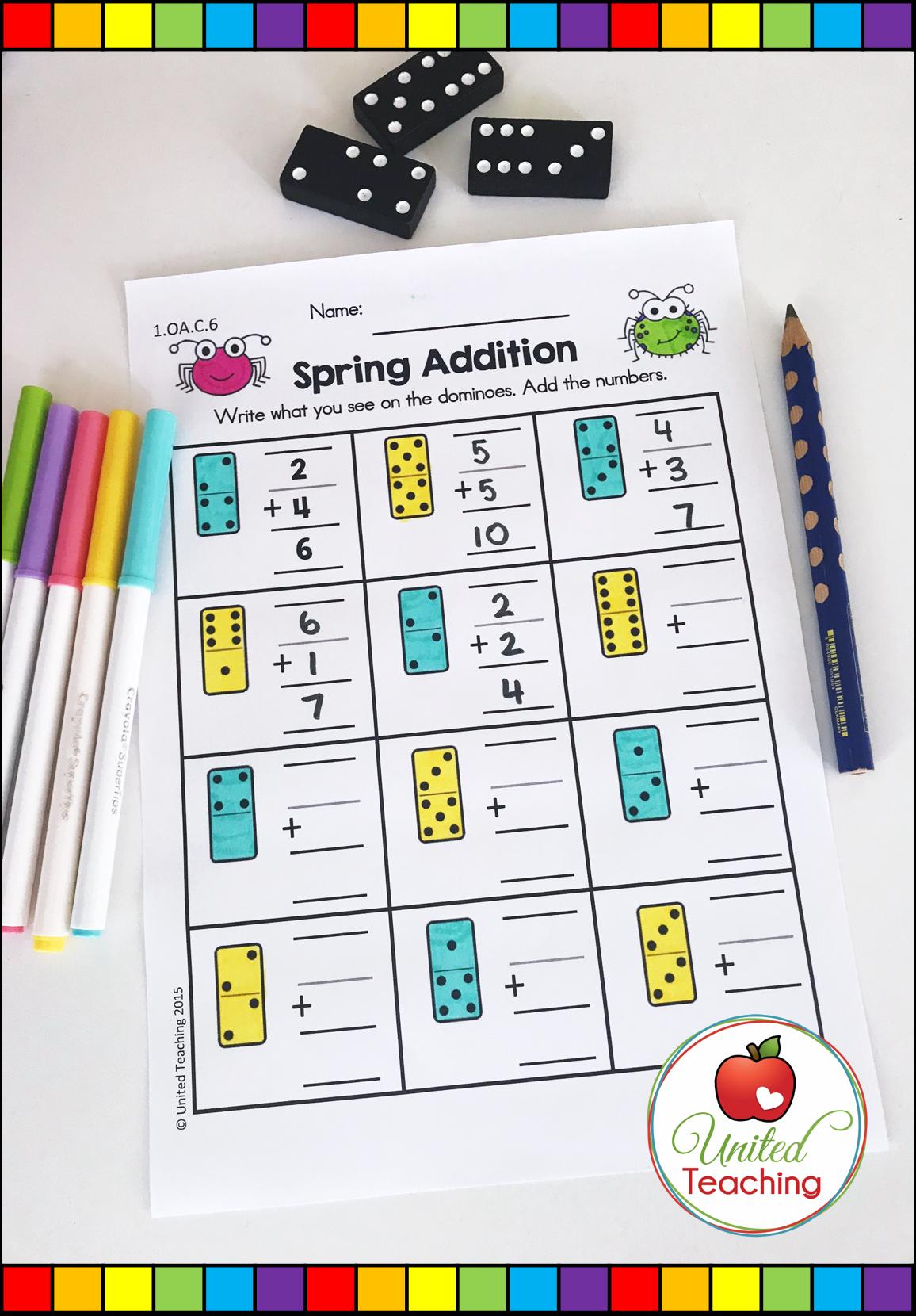 Spring Math Amp Literacy Worksheets 1st Grade Bundle
