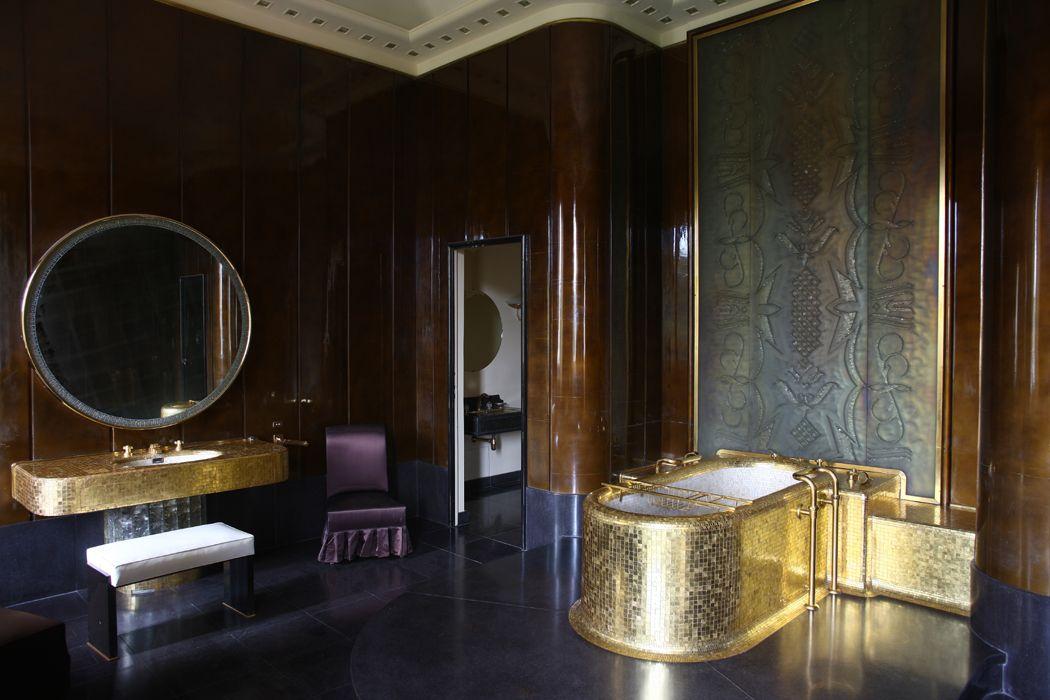 King\'s Bathroom at Hôtel des Affaires Étrangères, Paris (1938 ...