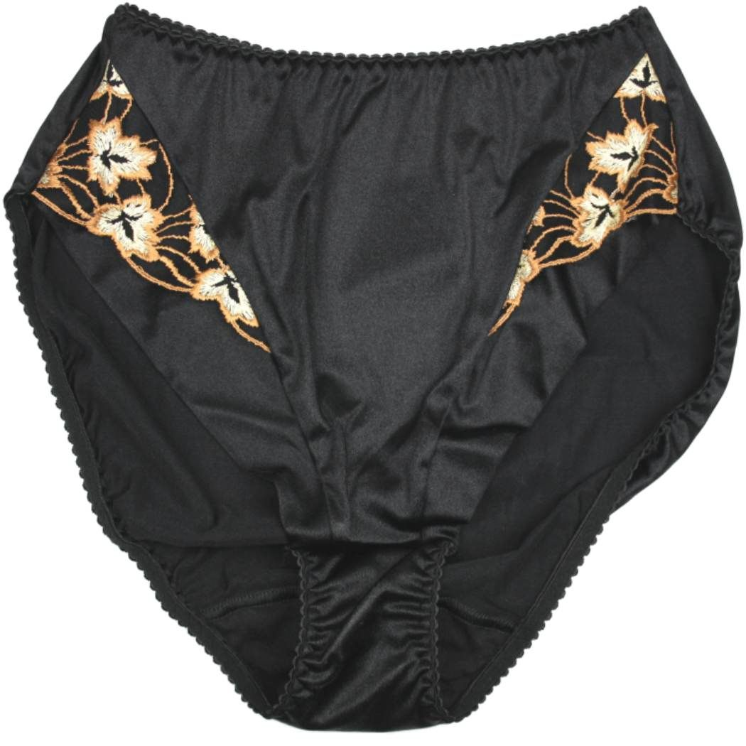 3103 UK Silhouette Lingerie /'Cascade/' Full Brief Satin Knickers with Lace