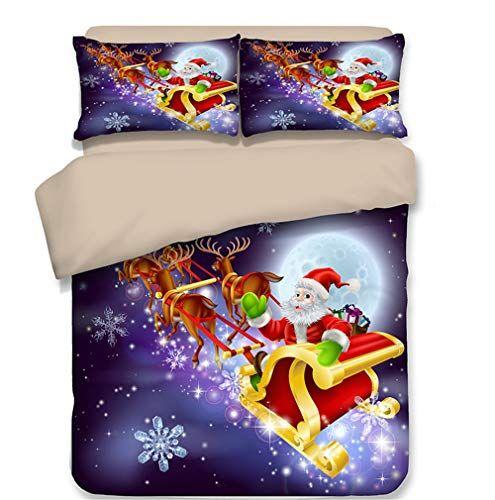Dodou Bedding Christmas Bedding Sets Funny Santa Pattern Bedding