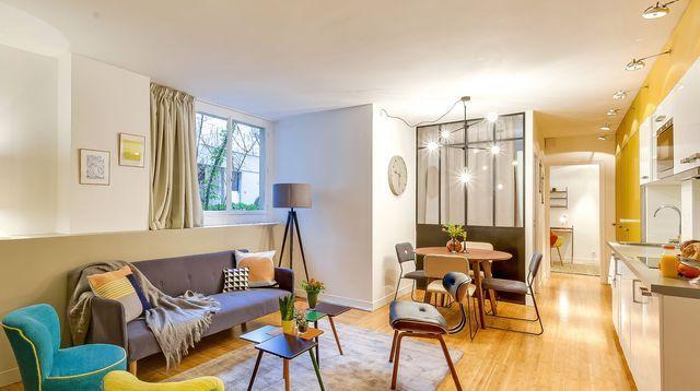 Appartement paris 6 avant après dun 90 m2 rénové avec verrières