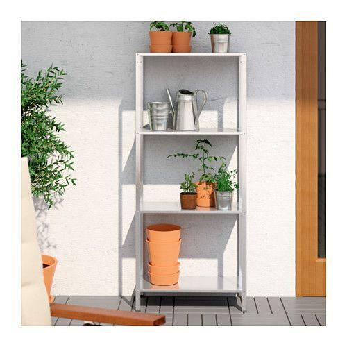 IKEA - HYLLIS Shelf unit indoor/outdoor galvanized Shelves, Indoor