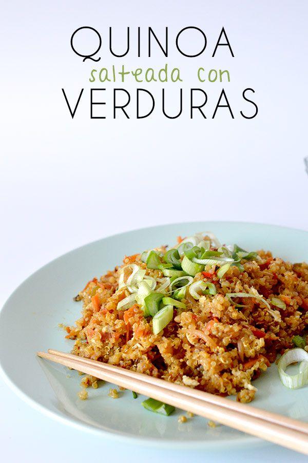 Esta receta de quinoa esta realmente deliciosa y har s que - Arroz con verduras light ...