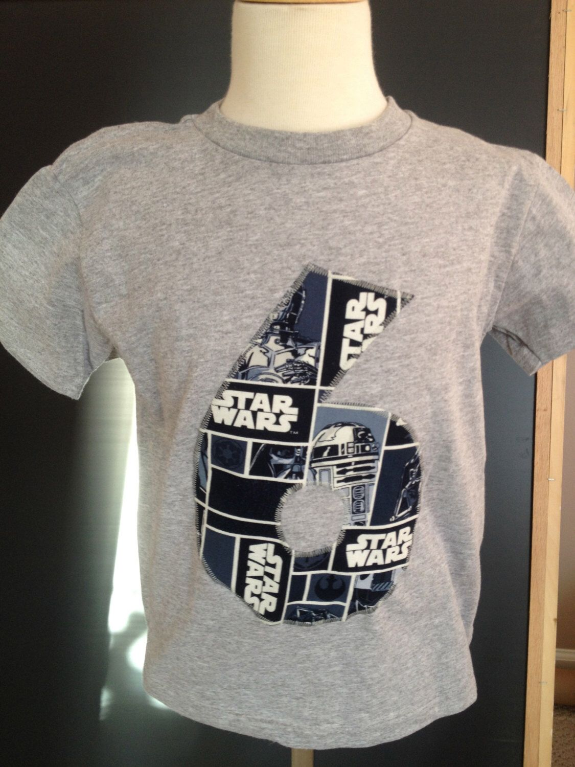 Custom Number Or Initial T Shirt Using Any Fabric Star Wars