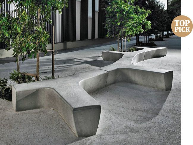 Modern Style Outdoor Concrete Bench And Concrete Bench Garden Design Garden Furniture Benches
