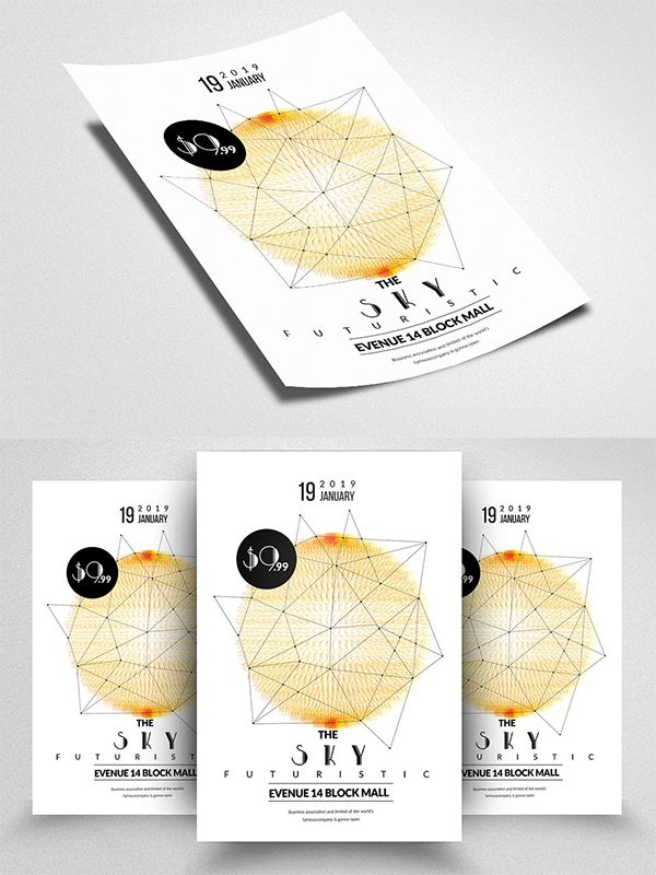 Electro Flyer Templates | Полиграфия | Pinterest | Flyer template ...