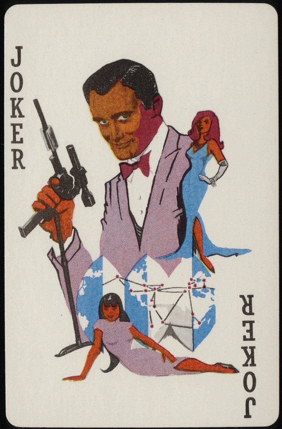 MAN FROM U.N.C.L.E. PLAYING CARDS NO.490, USA 1965