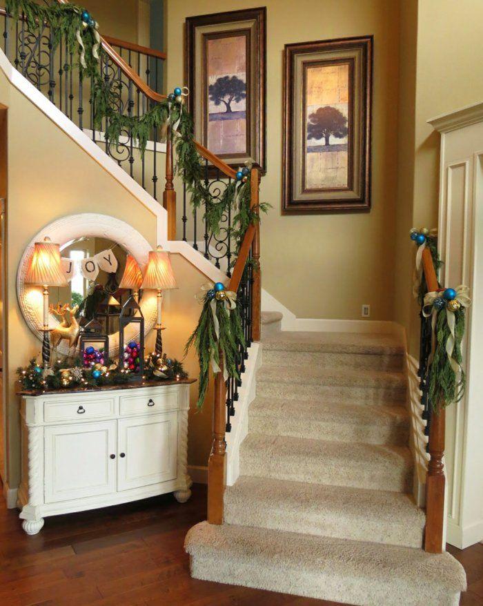 1001 dekoideen weihnachten das treppenhaus weihnachtlich dekorieren treppenhaus - Treppe dekorieren ...