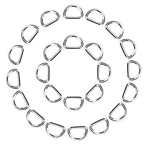 eBoot 100 Pack Metal D Ring, 1/ 2 Inch eBoot   www