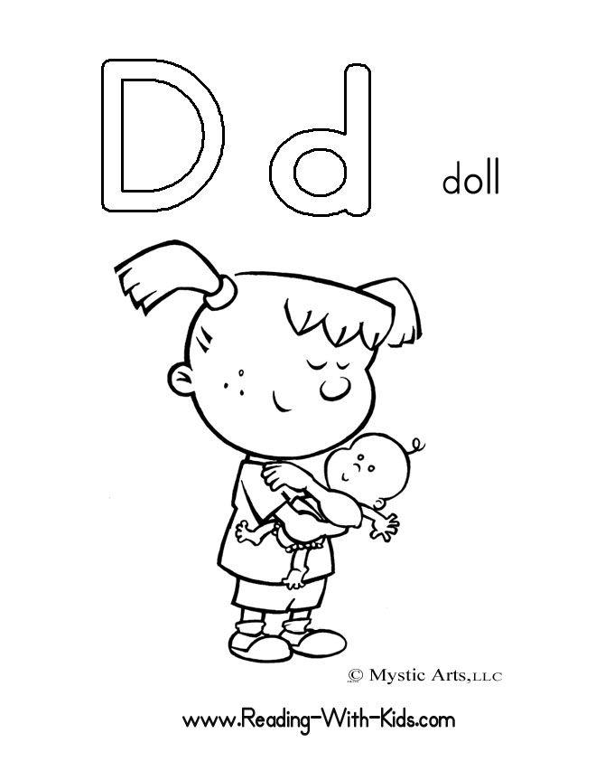 Letter D Coloring Sheet Letters Alphabet Coloringsheets