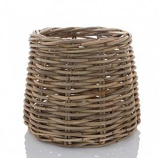 Round Conic Wood Basket Medium Hudson Grace Accessories