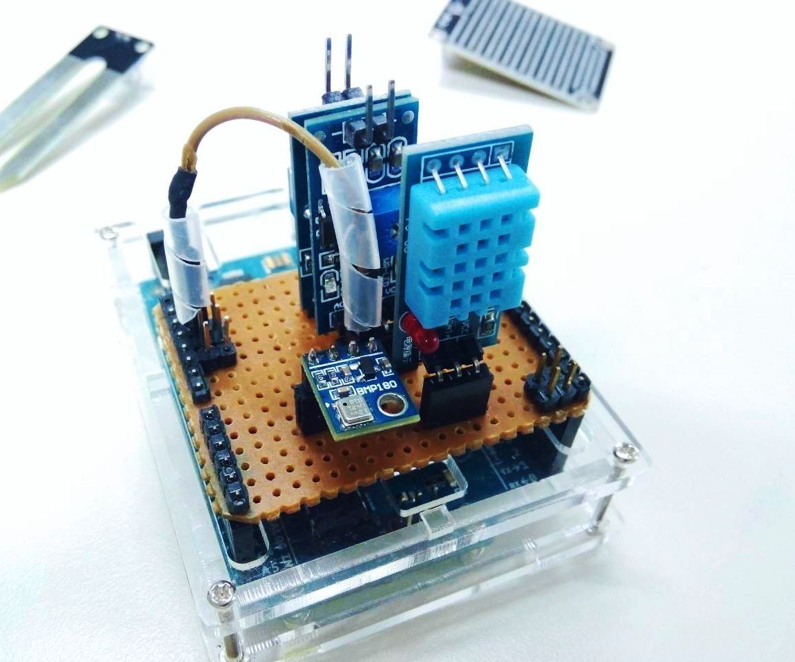 Arduino Weather Station Aws 4x4 Icon Wireless Locking Buzzer Circuit Diagram In This Project We Will Be Making A That Measures Air Pressure Temperature Rain Drop Soil Humidity And Using Which