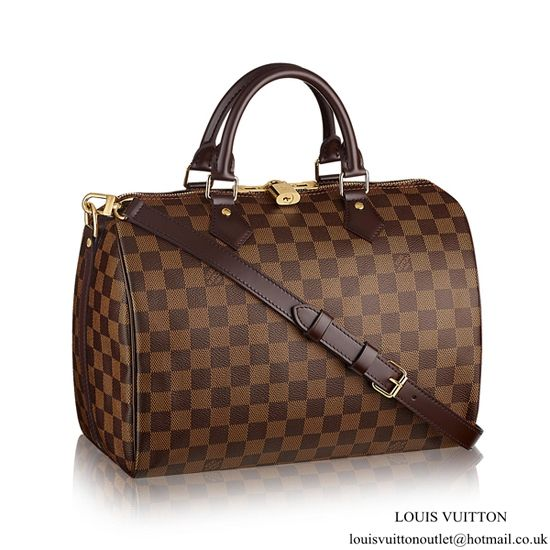 3ee5ce0e4f94 Louis Vuitton N41367 Speedy Bandouliere 30 Tote Bag Damier Ebene Canvas