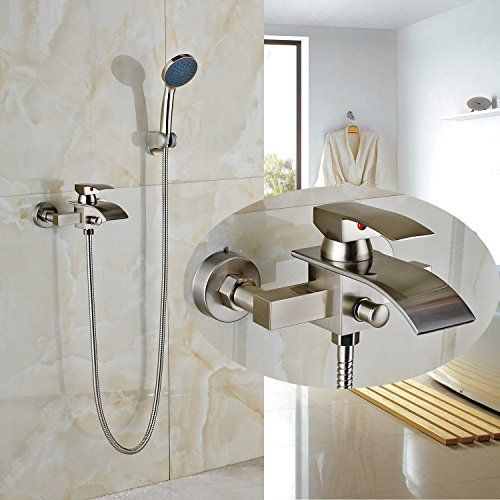 Rozin Bathroom Wall Mounted Tub Faucet Mixer Tap With Hand Shower