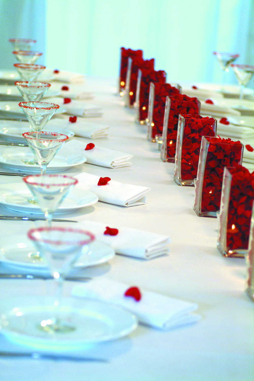 Wedding decoration ideas red and white  RED  WHITE Romantic wedding tablescape View more images from our