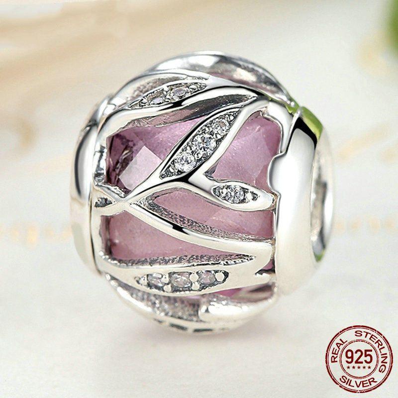 charm pandora a forma di rosa