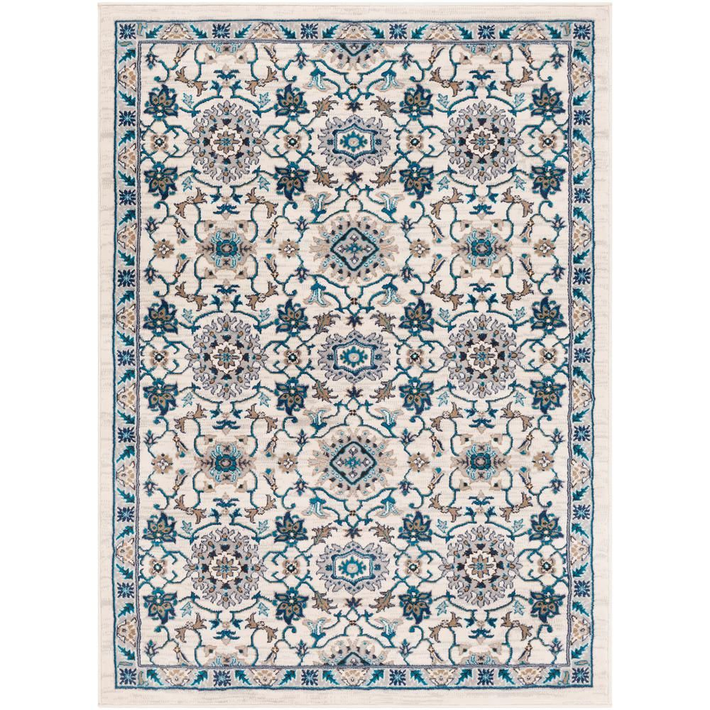 Artistic Weavers Elias Ivory 3 Ft 11 In X 5 Ft 7 In Medallion