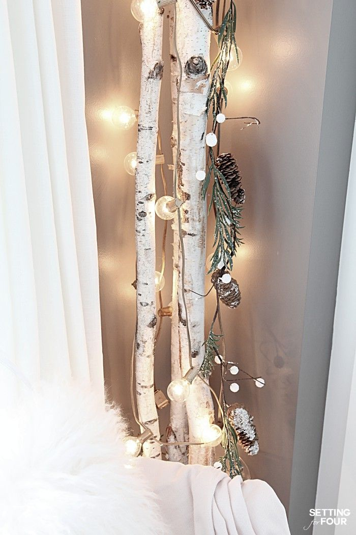10 Minute Winter Diy Decorating Birch Branches Idea Winter Decorations Diy Fun Decor Winter Diy