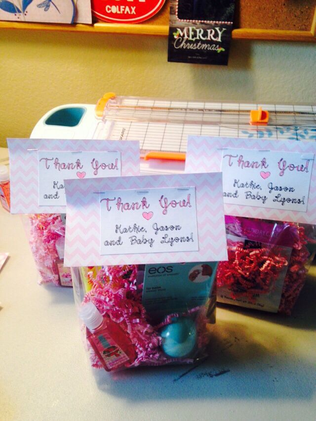 Thank You Goo Bags For The Nurses During Labor And Delivery Packed Ready To Hand Out