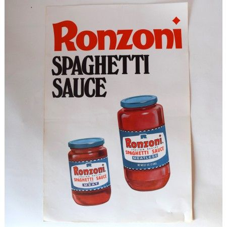Ronzoni Spaghetti Sauce Poster