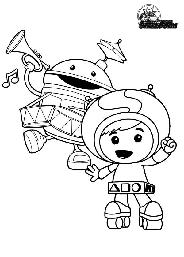 Geo And Bot From Team Umizoomi Coloring Page Color Luna Coloring Pages Team Umizoomi Coloring Books