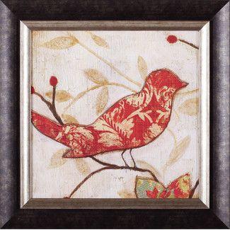 Songbird I By Tava Studios Framed Painting Print Artesanato