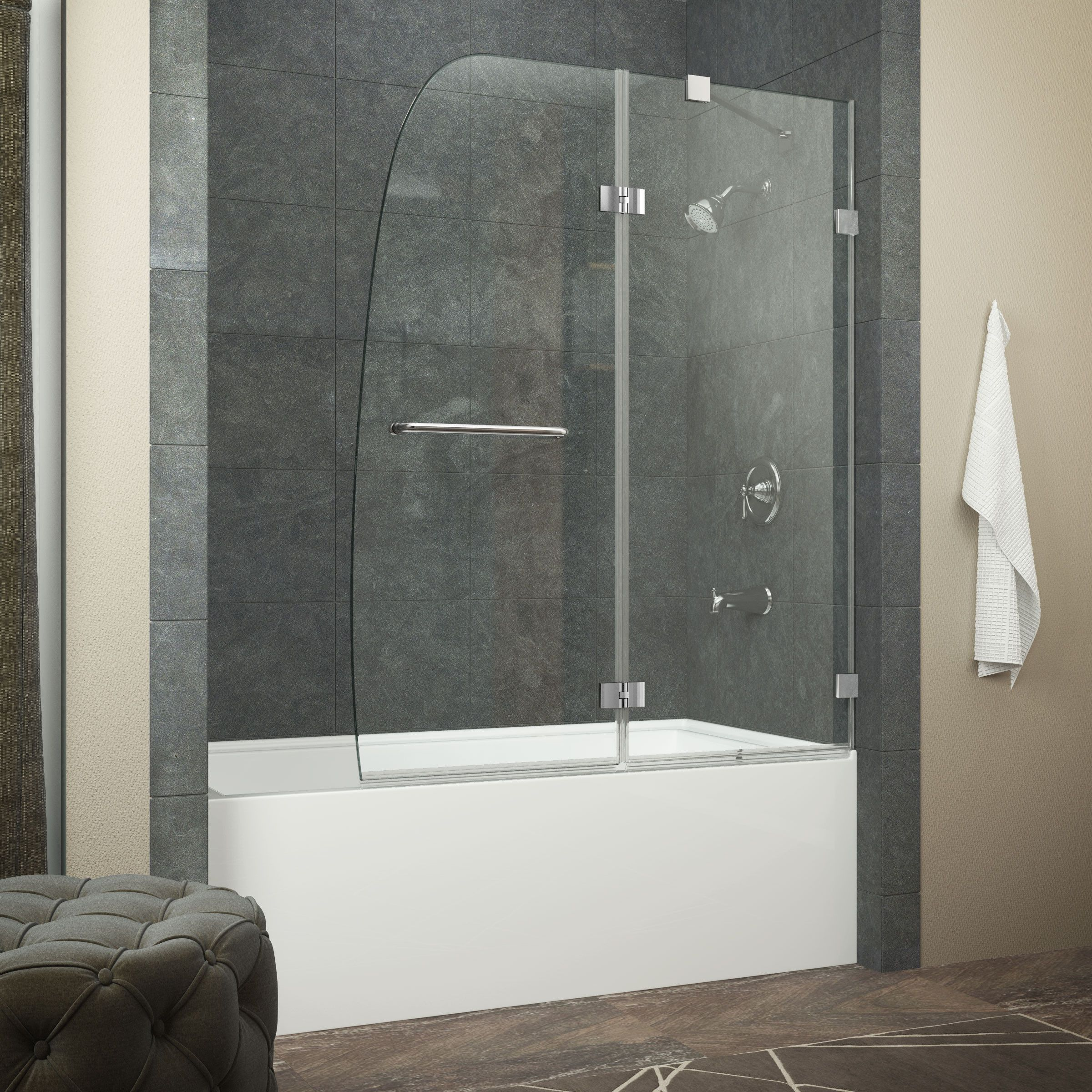 Anzzi Herald Series Sd Az11 01ch Shower Doors Tub Glass Door