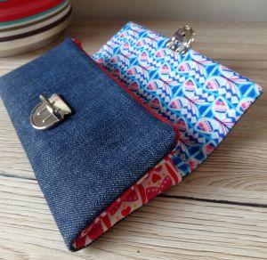 Jeans Upcycling purse Geldbeutel Wildspitz
