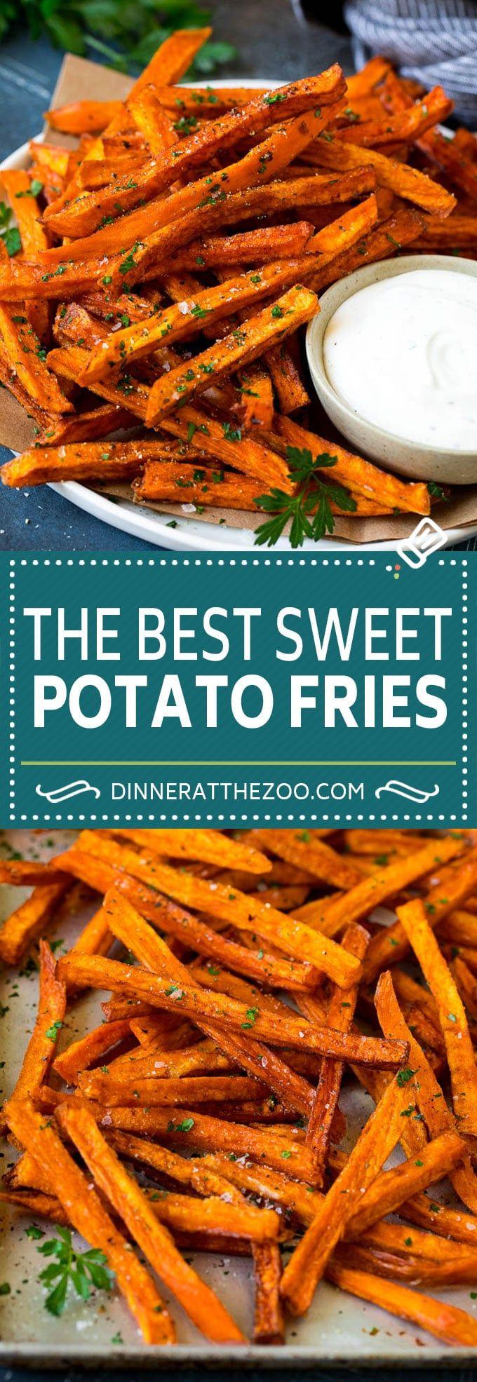 Sweet Potato Fries Recipe | Baked Sweet Potato Fries | Homemade Fries