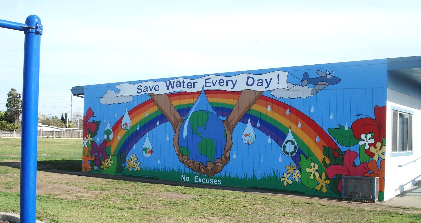 Water Conservation Operation Clean Slate Bottle Cap Murals