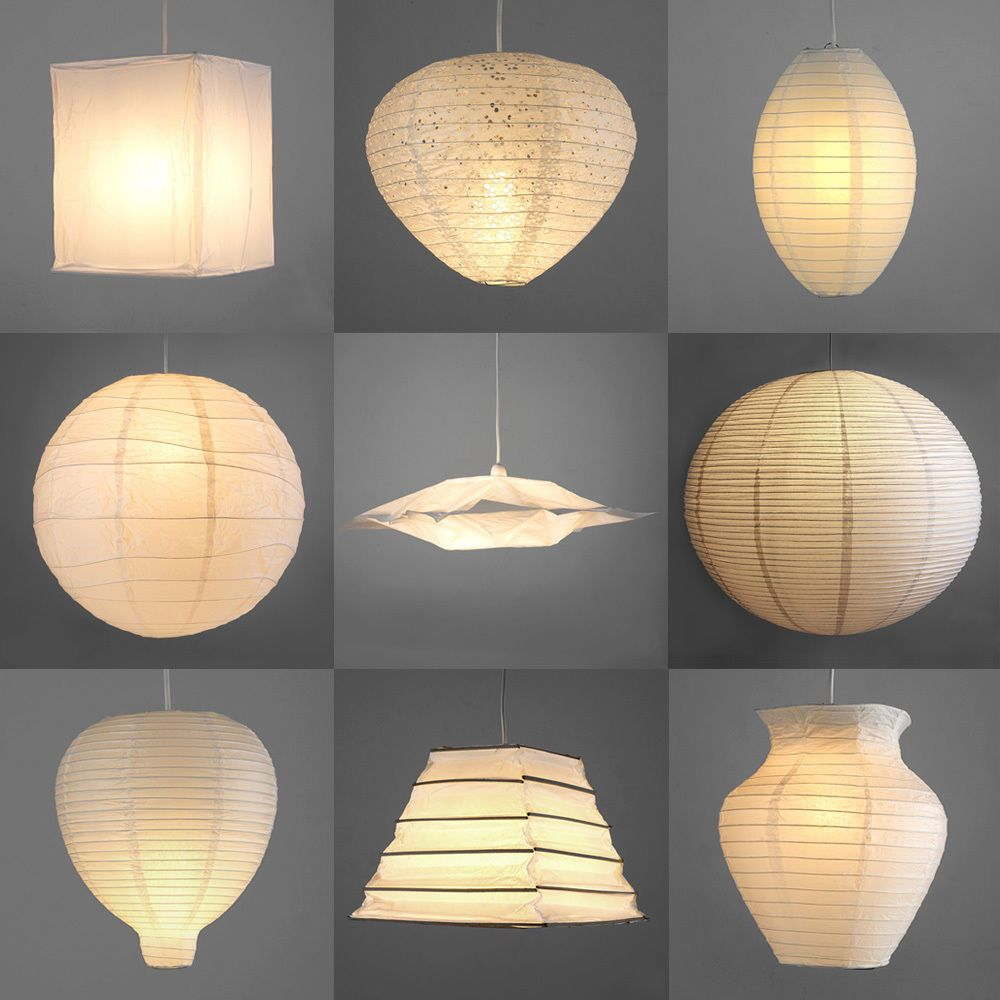 Pair of modern paper ceiling pendant light lamp shades lanterns pair of modern paper ceiling pendant light lamp shades lanterns lampshades white mozeypictures Gallery