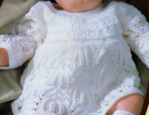 Knitting Pattern Baby Sweater Angel Top Baby Girl Baby Dress