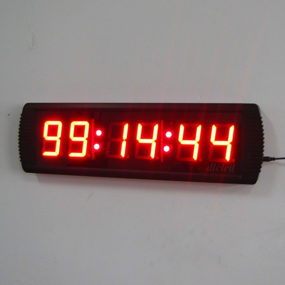 Indoor 3 led wall clock led giant clock for office led countdown indoor 3 led wall clock led giant clock for office led countdownup timer amipublicfo Images