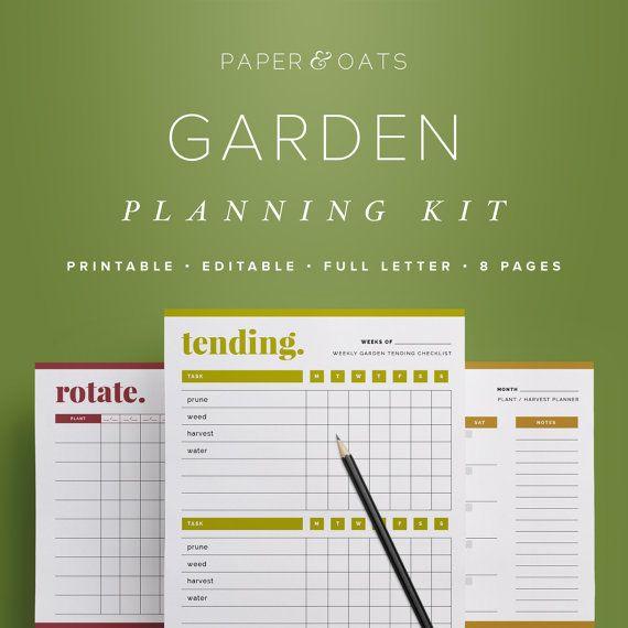 Garden Planner Garden Calendar Garden Planning Kit Planting