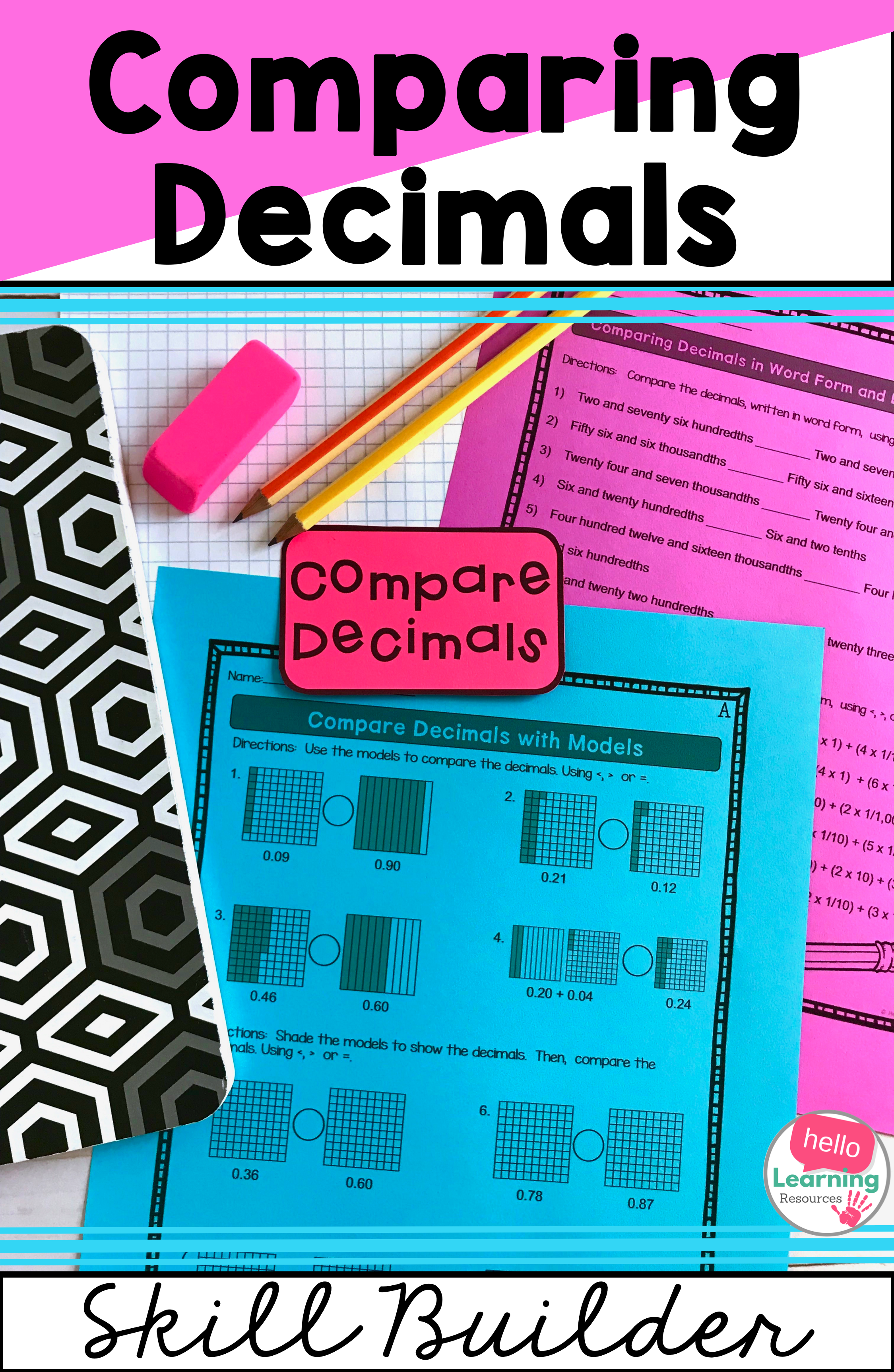 Comparing Decimals Worksheets