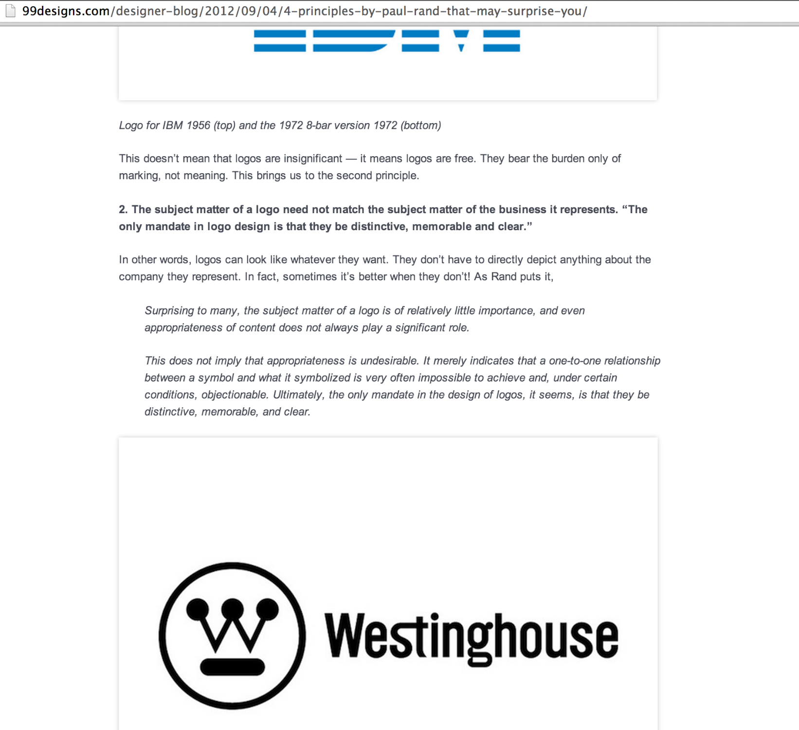 Some Of The Research I Did On Paul Rand And Examples Of His Logos
