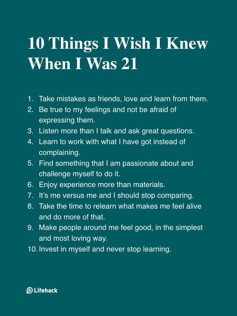 Vorrei che tutti potessero prendere questi 10 consigli fin da subito …