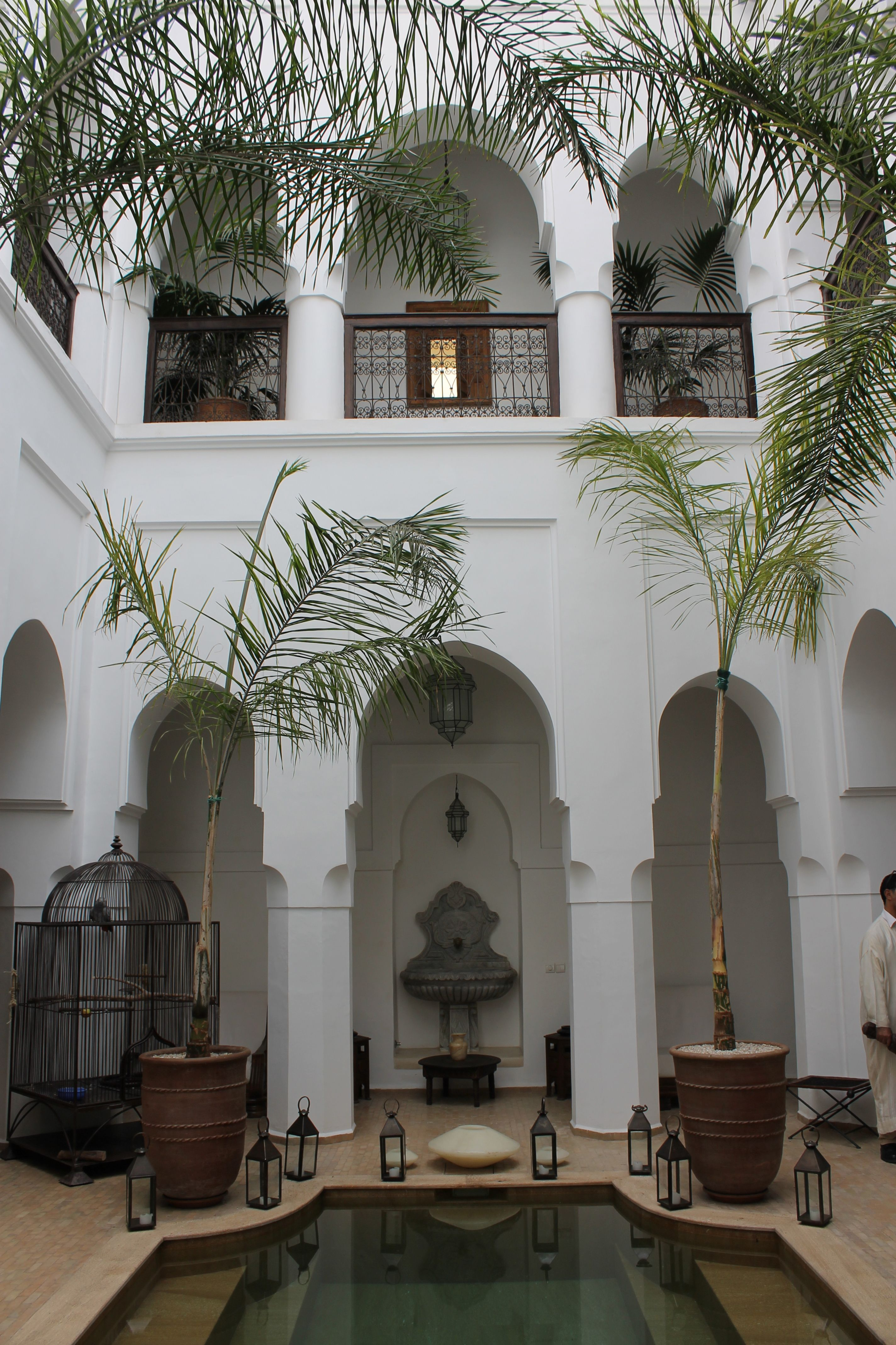 Marrakech riad with courtyard