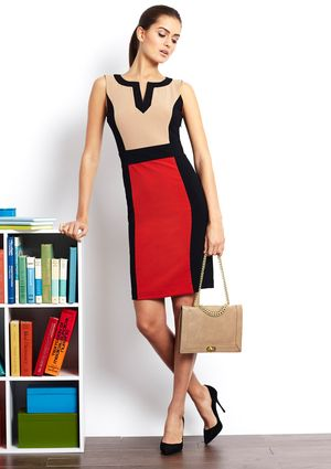 On ideeli: GLAMOUR V-Neck Tri-Color Block Dress