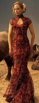 Nicole Kidman's chinese cheongsam in Australia.