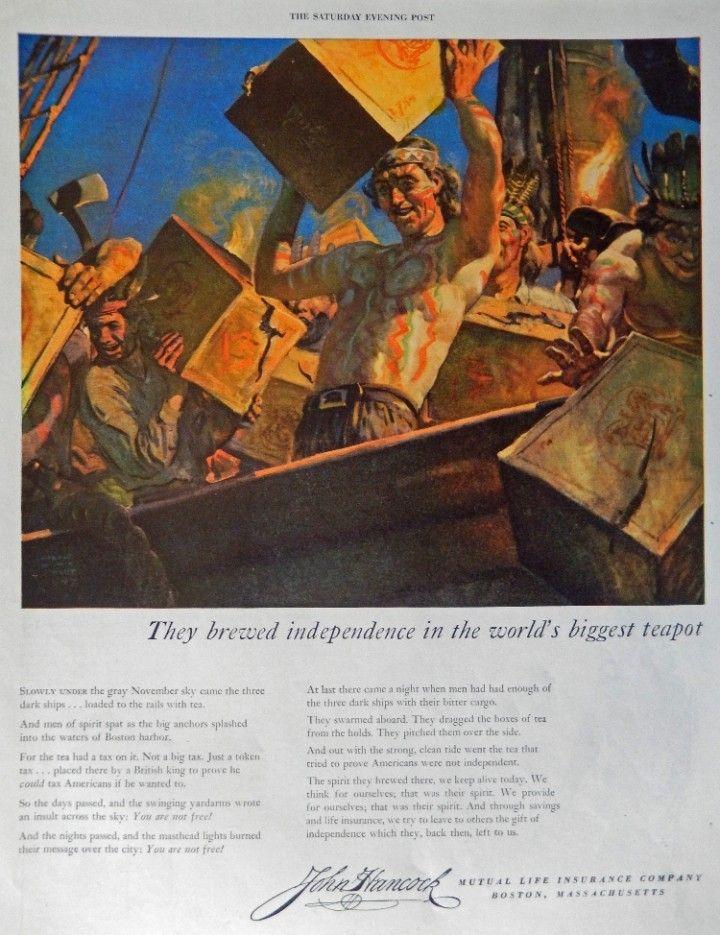 John Hancock Life Insurance, 40's Print ad. Color ...