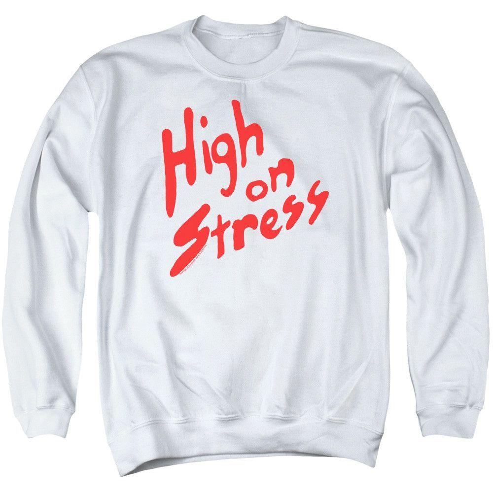 Revenge of the Nerds: High On Stress Crewneck Sweatshirt
