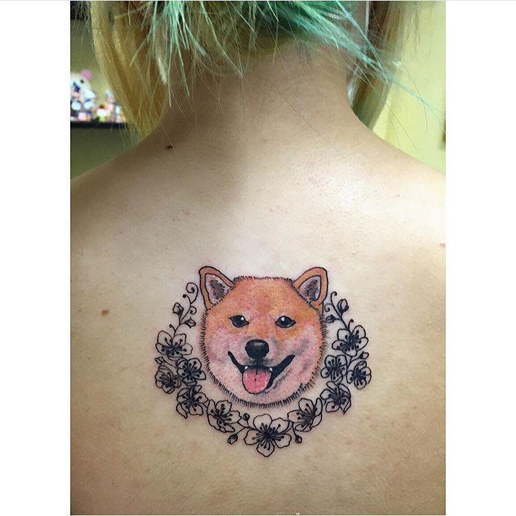 Image result for 犬 shiba タトゥー