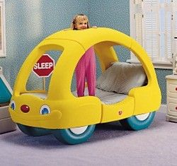 Little Tikes Yellow Car Bed   Snooze N Cruise Toddler Bed ...